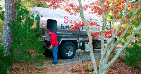 Heating Oil Delivery Truck on Cape Cod, MA