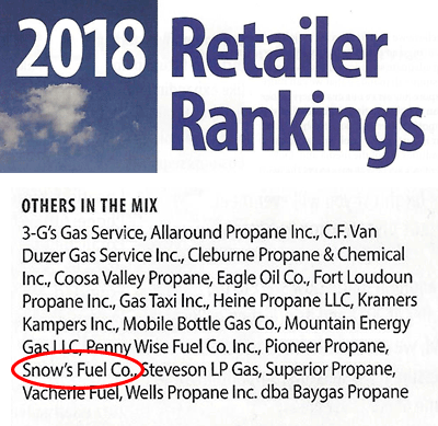 LP Gas Magazine's 2018 Retailer Rankings