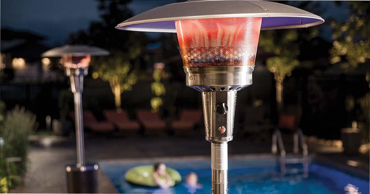 Propane patio heaters and pool